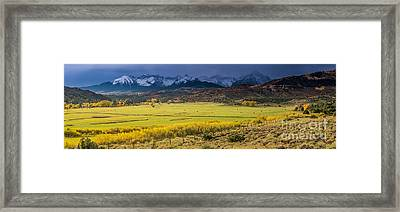 Sunrise Sneffels Range Ranch - Colorado Framed Print by Gary Whitton