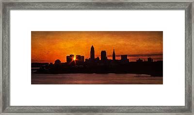 Sunrise Through The City Framed Print by Dale Kincaid