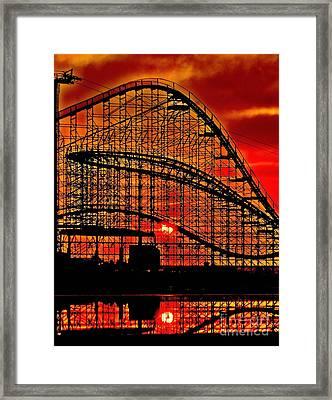 Sunrise Thru The Coaster Framed Print by Nick Zelinsky