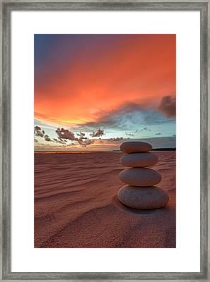 Sunrise Zen Framed Print by Sebastian Musial