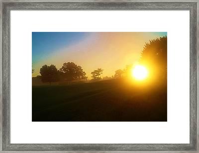 Sunrising Over The Club House Framed Print by Daniel Thompson