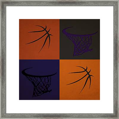 Suns Ball And Hoop Framed Print by Joe Hamilton