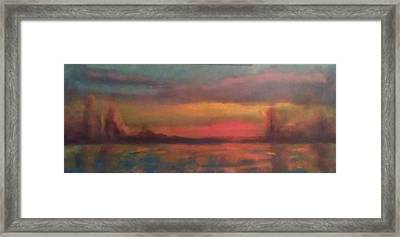 Sunset 2012 Framed Print by Piotr Wolodkowicz