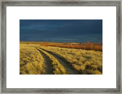 Sunset Above Flaming Gorge, Green Framed Print by Timothy Herpel