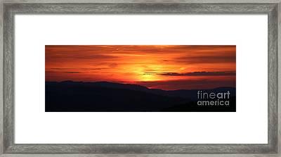 Sunset Framed Print by Amanda Mohler