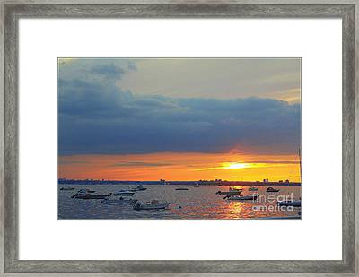 Sunset And Blue Clouds Framed Print by Dora Sofia Caputo Photographic Art and Design