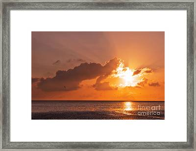 Sunset Framed Print by Angela Doelling AD DESIGN Photo and PhotoArt
