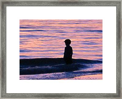 Sunset Art - Contemplation Framed Print by Sharon Cummings