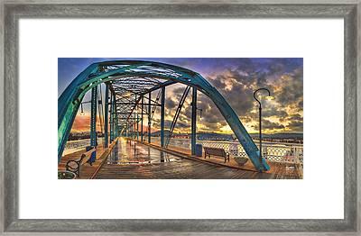 Sunset As I Walk Framed Print by Steven Llorca