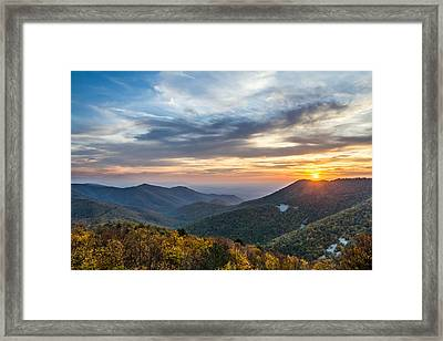 Sunset At Blackrock Mountain Shenandoah National Park Framed Print by Pierre Leclerc Photography