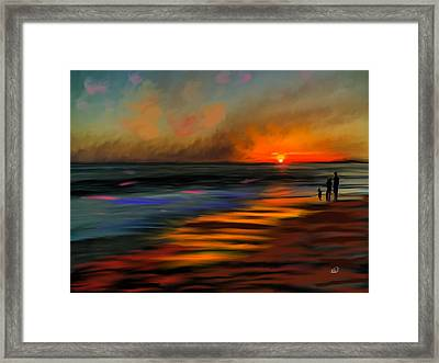 Sunset At Capo Beach In California Framed Print by Angela A Stanton