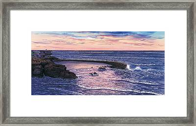 Sunset At Children's Pool Framed Print by John YATO