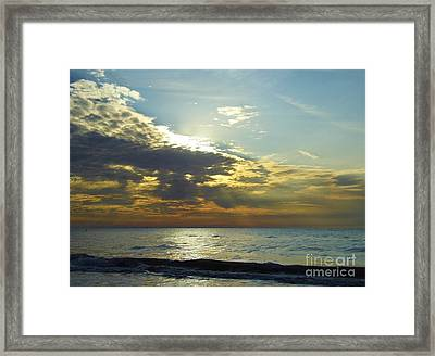 Sunset At Clearwater Framed Print by D Hackett