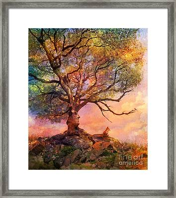 Sunset At Fox Mountain Framed Print by Aimee Stewart