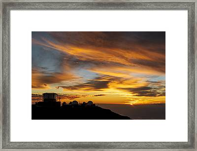 Maui - Sunset At Haleakala Framed Print by Francesco Emanuele Carucci
