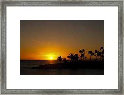Sunset At Ko Olina Framed Print by Scott Terna