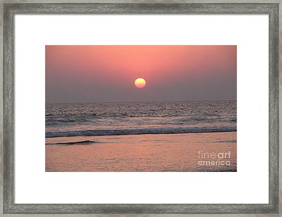 Sunset At San Juan De Alima Framed Print by Linda Queally