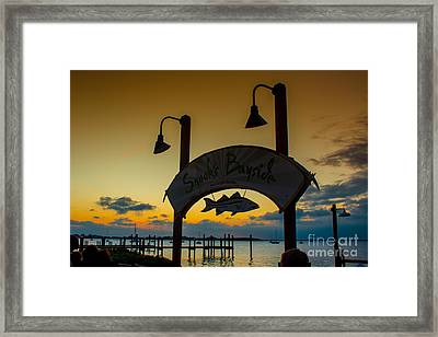Sunset At Snooks Bayside Framed Print by Rene Triay Photography