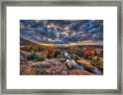 Sunset At Sunset Framed Print by Chris Martin