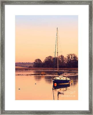 Sunset At The Creek Framed Print by Pixel Chimp