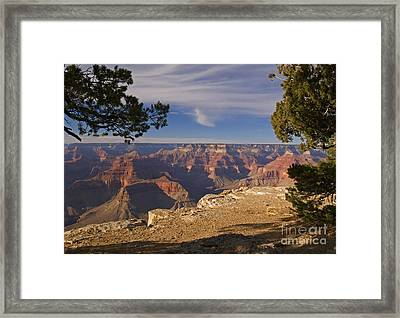 Sunset At The Grand Canyon's Hopi Point Framed Print by Alex Cassels