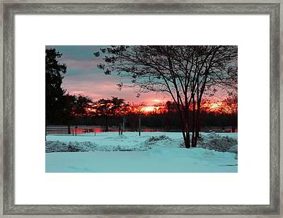 Sunset At The Park Framed Print by Carolyn Ricks