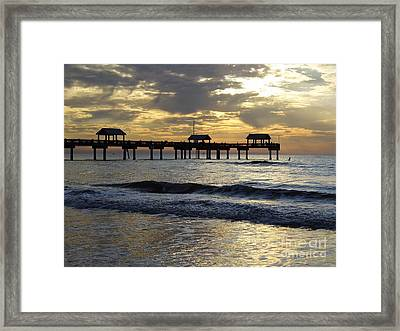Sunset At The Pier 60 Framed Print by D Hackett