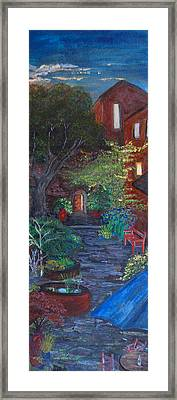Sunset At The Villa Framed Print by Dixie Adams