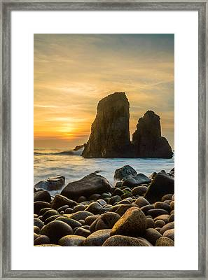 Sunset At The World's End Iv Framed Print by Marco Oliveira