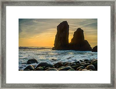 Sunset At The World's End Framed Print by Marco Oliveira