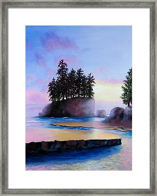 Sunset At Tongue Point Framed Print by Shelley Irish