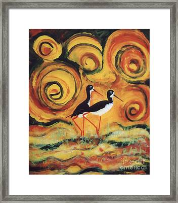 Sunset Ballet Framed Print by Anna Skaradzinska