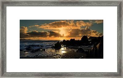 Sunset Framed Print by Barbara Walsh