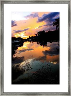 Sunset Bay Framed Print by AR Annahita