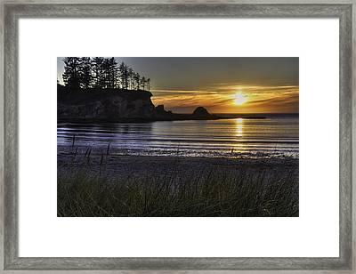 Sunset Bay Paradise Framed Print by Mark Kiver