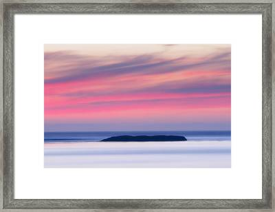 Sunset Bay Pastels II Framed Print by Mark Kiver