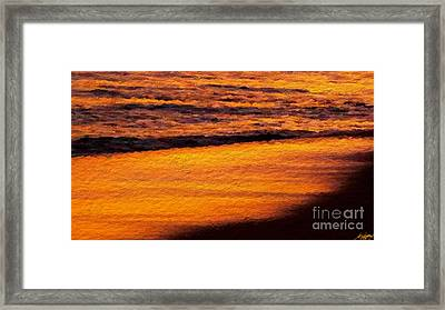 Sunset Beach Framed Print by Anthony Fishburne