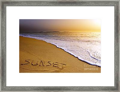 Sunset Beach Framed Print by Carlos Caetano