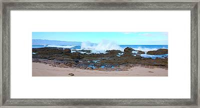 Sunset Beach Crashing Wave - Oahu Hawaii Framed Print by Brian Harig