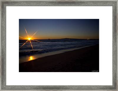 Sunset Beach Framed Print by Heidi Smith