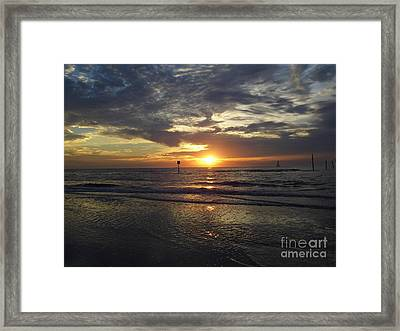 Sunset Beauty At Clearwater Framed Print by D Hackett
