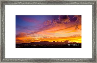 Sunset Behind The Wainae Mountain Range Framed Print by Aloha Art
