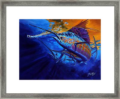 Sunset Bite Framed Print by Savlen Art