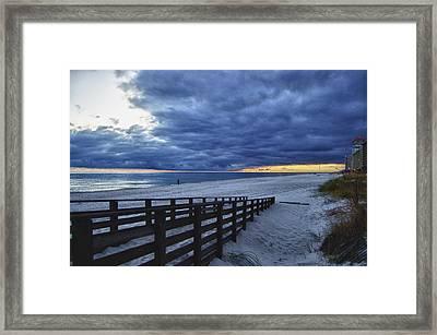 Sunset Boardwalk Framed Print by Michael Thomas