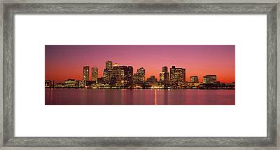 Sunset Boston Ma Framed Print by Panoramic Images