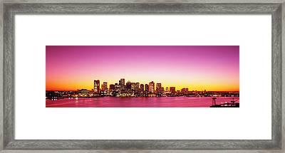 Sunset, Boston, Massachusetts, Usa Framed Print by Panoramic Images