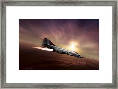 Sunset Burn Framed Print by Peter Chilelli