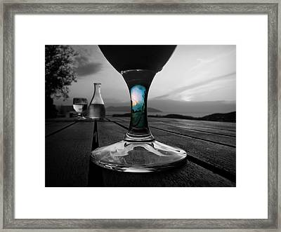 Sunset Cafe Framed Print by Micki Findlay