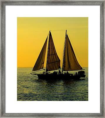 Sunset Celebration Framed Print by Karen Wiles