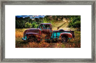 Sunset Chevy Pickup Framed Print by Ken Smith